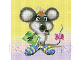 Алмазная вышивка «Ученый мышонок» (Код:282-ST-S)