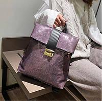 Рюкзак городской женский с пайетками Roll-top