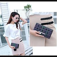 Кошелек геометрический в корейском стиле, бумажник, портмоне с геометрическим рисунком, фото 1