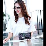 Кошелек геометрический в корейском стиле, бумажник, портмоне с геометрическим рисунком, фото 3