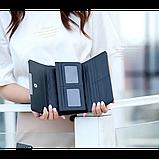 Кошелек геометрический в корейском стиле, бумажник, портмоне с геометрическим рисунком, фото 4