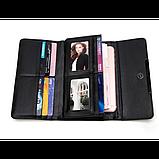 Кошелек геометрический в корейском стиле, бумажник, портмоне с геометрическим рисунком, фото 9