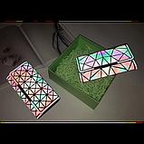 Кошелек геометрический в корейском стиле, бумажник, портмоне с геометрическим рисунком, фото 10