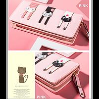 Женский кошелек Три котенка, расцветки, фото 1