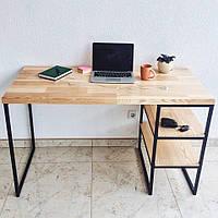 Письменный стол с натурального дерева в стиле Лофт