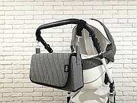 Сумка-пеленатор на коляску Z&D Лен Серый
