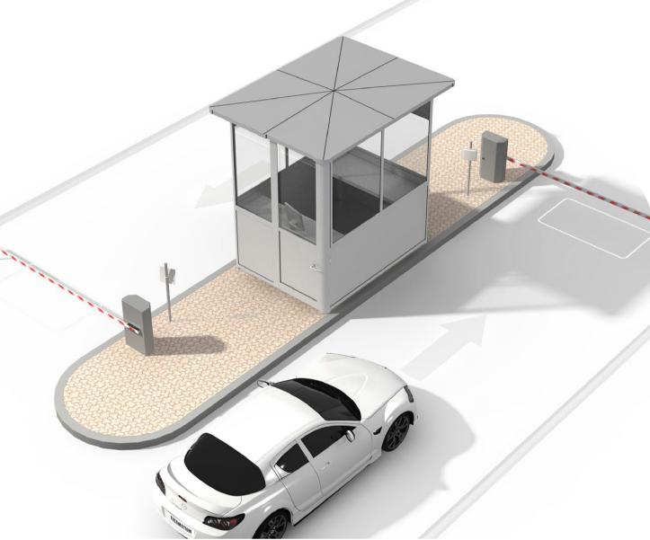 Доступ на парковку с больщого расстония
