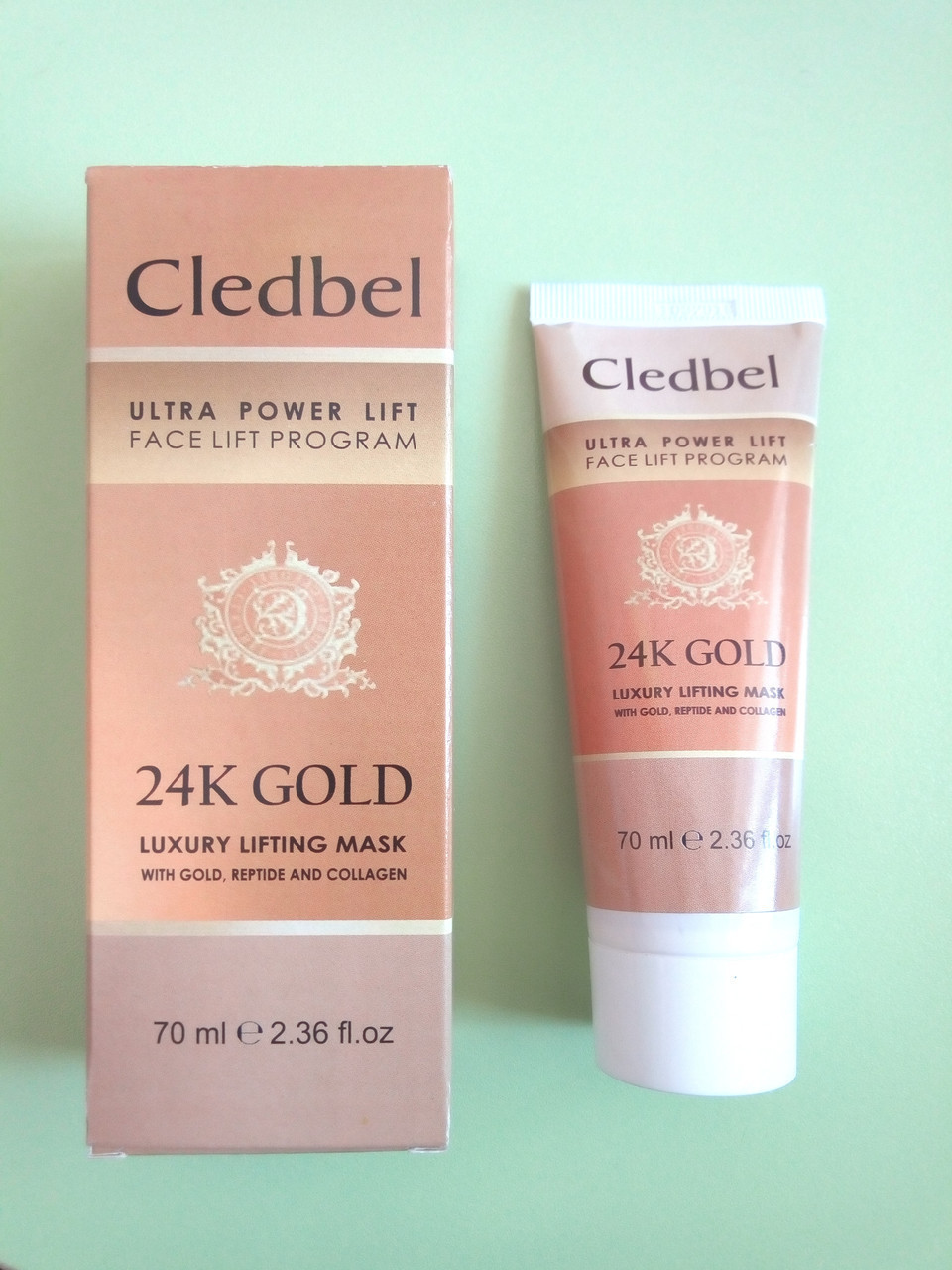 Cledbel 24К Gold - Золотая маска для подтяжки лица (Кледбел) ViP