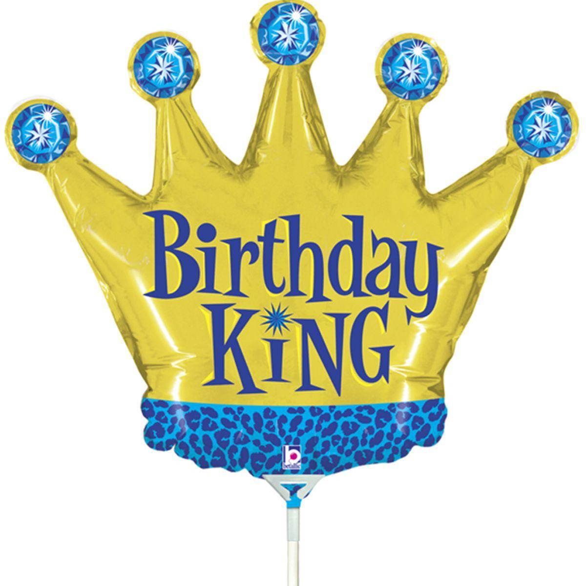 Фол куля МІНІ-ФІГУРА Корона золота Birthday King (Грабо)