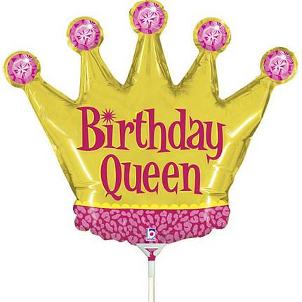 Фол шар МИНИ-ФИГУРА ХБ Корона золотая Birthday Queen (Грабо), фото 2