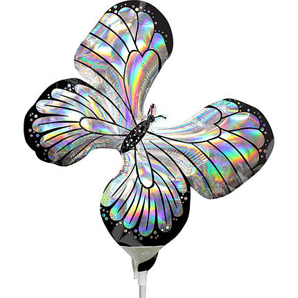 Фол шар МИНИ-ФИГУРА Бабочка серебро (Анаграм), фото 2