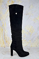 Замшевые сапоги женские Mea Balan на каблуке