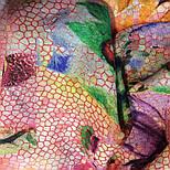 10494-3, павлопосадский шарф-палантин шерстяной (разреженная шерсть) с осыпкой, фото 5