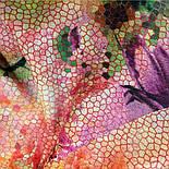 10494-3, павлопосадский шарф-палантин шерстяной (разреженная шерсть) с осыпкой, фото 4