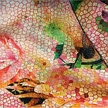 10494-3, павлопосадский шарф-палантин шерстяной (разреженная шерсть) с осыпкой, фото 10