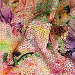 10494-3, павлопосадский шарф-палантин шерстяной (разреженная шерсть) с осыпкой, фото 9