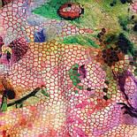 10494-3, павлопосадский шарф-палантин шерстяной (разреженная шерсть) с осыпкой, фото 7
