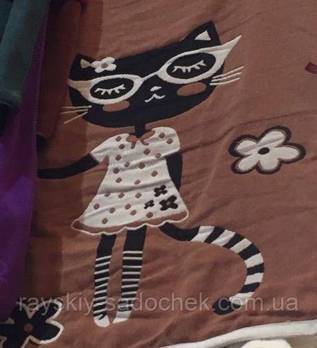 Полотенце хлопковое для лица Кошка  45х90