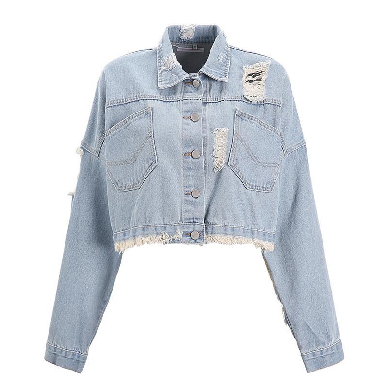Джинсовая женская курточка AL-8606-20