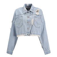 Джинсовая женская курточка AL-8606-20, фото 1