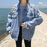 Джинсовая женская курточка AL-8608-20, фото 1