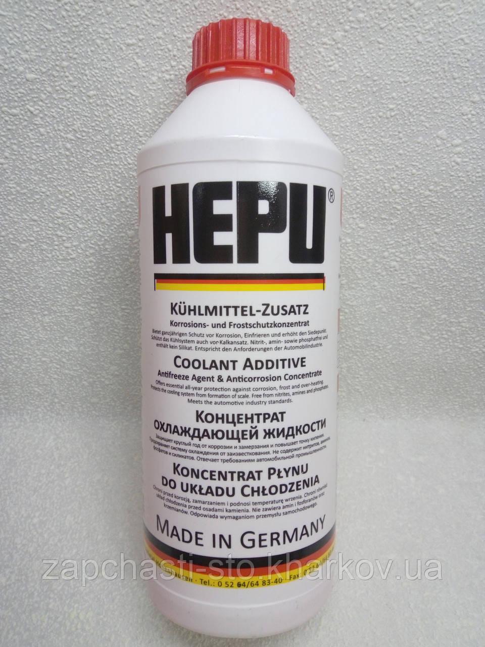Антифриз красный концентрат HEPU G12 1.5 л -80