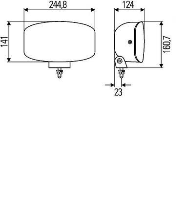 Ксеноновая фара дальнего света Hella Jumbo 320 FF Xenon 1FE 008 773-021, фото 2