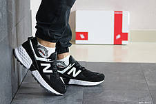 Мужские кроссовки New Balance 574 замшевые,черно-белые, фото 2
