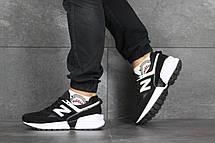 Мужские кроссовки New Balance 574 замшевые,черно-белые, фото 3