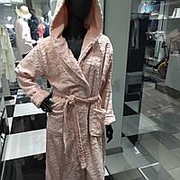 Халат жіночий, довгий, рожевий, ТМ KEY, фото 1