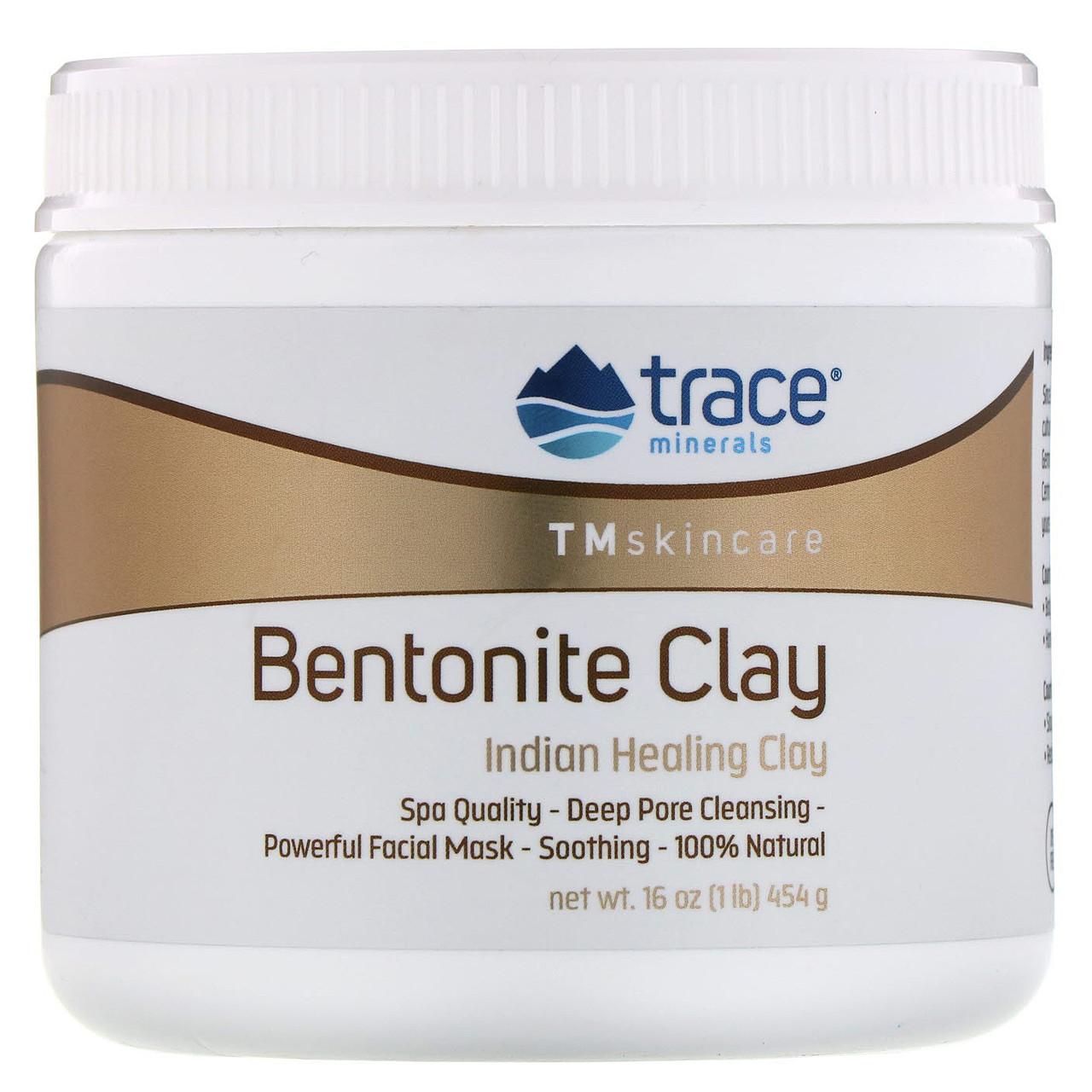 "Индийская лечебная глина ""Бентонитовая глина"" от Trace Minerals Research, 454 г"