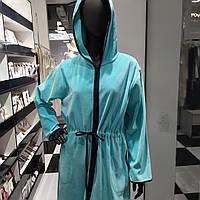 Халат натільний жіночий мятный, 2XL, ТМ De Lafense, фото 1