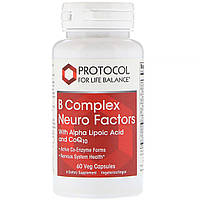 "Комплекс витаминов B ""Neuro Factors"" от Protocol for Life Balance, 60 вегетарианских капсул"