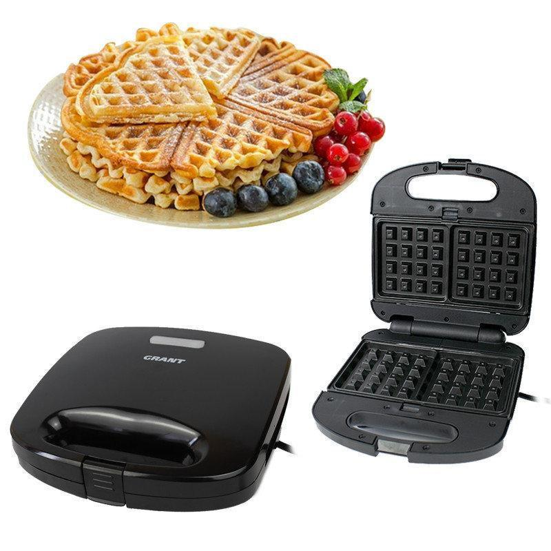 Гриль, бутербродница 3в1 Grant GT 780 800W со съемными формами, сендвичница, вафельница, тостер, Грант