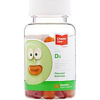 Витамин D3 от Chapter One, 60 вкусных жевательных конфет