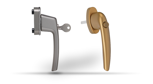Віконні ручки з ключем і кнопкою maco