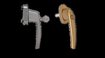 Оконные ручки с ключом и кнопкой maco