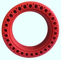 Перфорированная антипрокольная шина для самоката, Красная