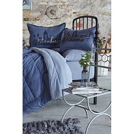 Набор постельное белье с одеялом Karaca Home - Istanbul indigo 2019-2 индиго полуторный
