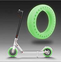 Перфорированная антипрокольная шина для самоката, Флурисцентная Зеленая