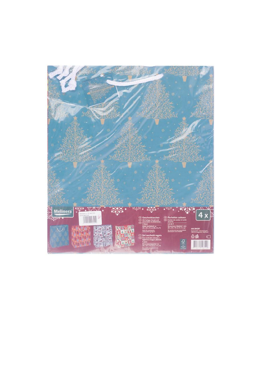 Набор подарочных бумажных пакетов Melinera 4шт