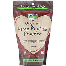 "Конопляный протеин NOW Foods, Real Food ""Organic Hemp Protein Powder"" порошок (340 г)"