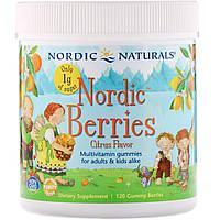 Витамины для детей Nordic Naturals, Nordic Berries, с цитрусом, 120 жевательных конфет