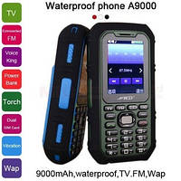 9000 мАч, зарядное устройство, фонарь, TV, FM, голосовое управление, двойная SIM водонепроницаемый.A9000 P481