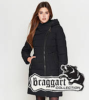 Braggart Youth   Длинная зимняя куртка женская 25325 черная