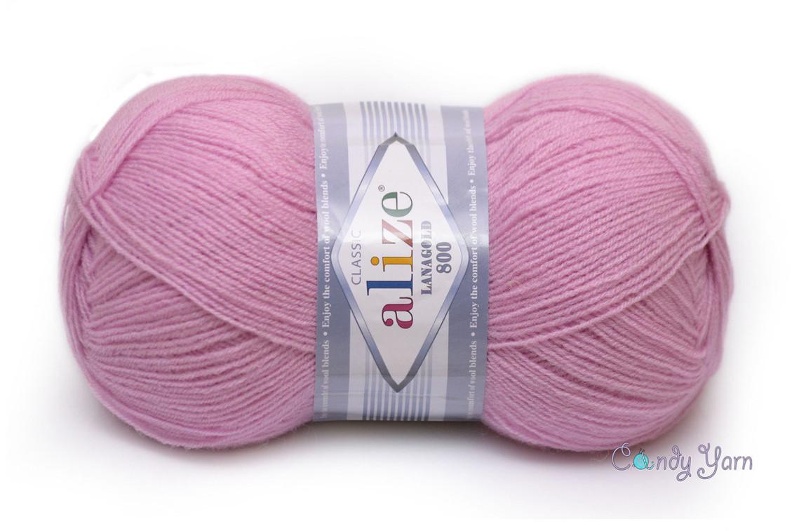 Alize LanaGold 800, розовый №98