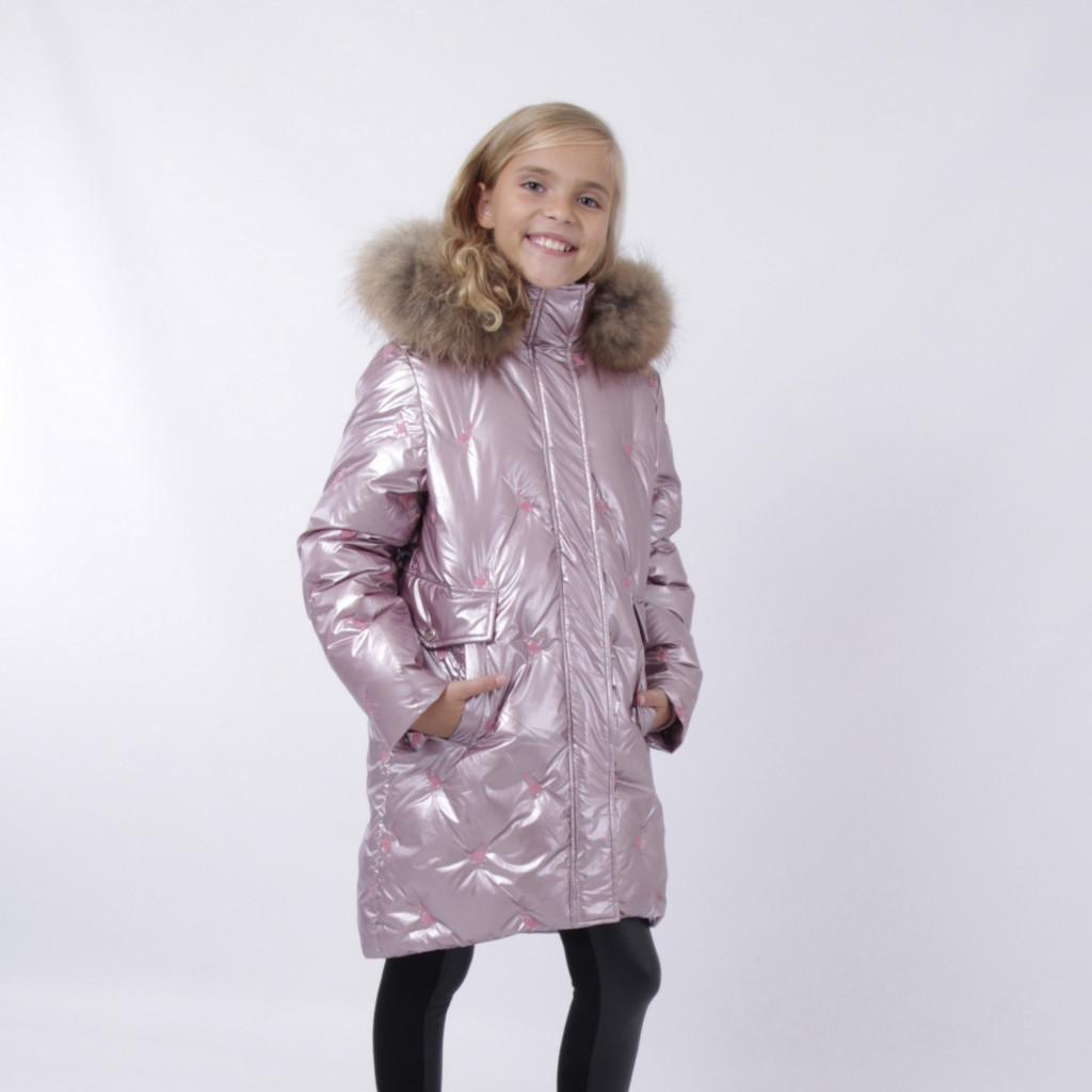 Дитячий зимовий комбінезон для дівчинки від ANERNUO 19216 | 116-140р. рожевий