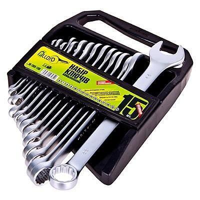 Набор ключей рожково-накидных Alloid (15 шт) 6-22 мм