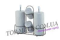 Набор для специй керамический Maestro - 5ед вертикальный Stone