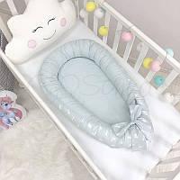 Кокон Baby Design Premium Кролики голубой